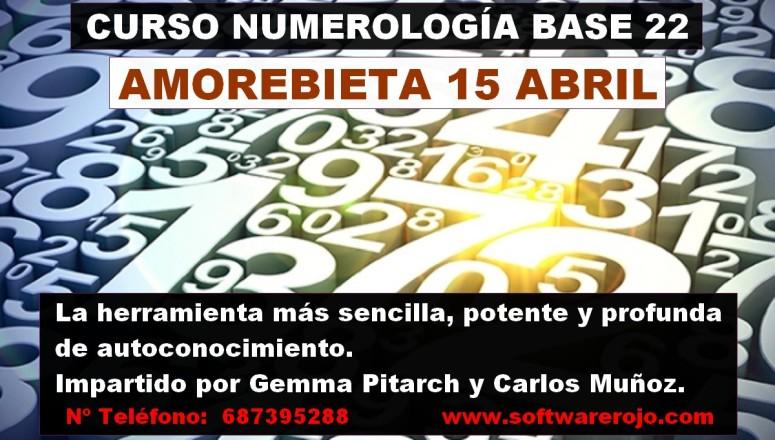 Cartel curso numerologia amorebieta