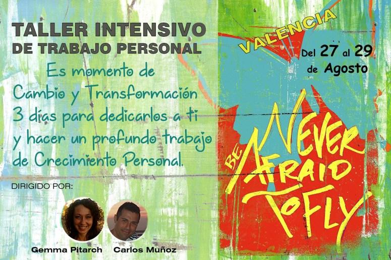 Cartel de l taller intensivo en Valencia