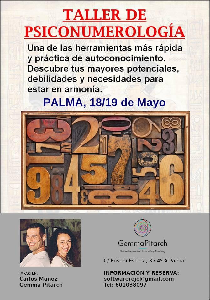 Cartel Palma Psiconumerología Mayo 2019